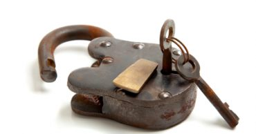 Old Antique Lock with Key
